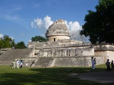 "El Caracol (""The Snail"")  is an observatory....makes us think twice about the abilities of the Mayan.    Chichen Itza, Yucatan, Mexico.  Go to http://www.yourtravelvideos.com/view.php?view=121007 or click on photo for video and more on this site."