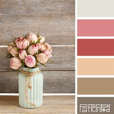 Color Palette: Shades of Pinks, Peach and Browns. If you like our color inspiration, sign up for our monthly trend letter here! http://patternpod.us4.list-manage.com/subscribe?u=524b0f0b9b67105d05d0db16a&id=f8d394f1bb&utm_content=buffer847d9&utm_medium=social&utm_source=pinterest.com&utm_campaign=buffer