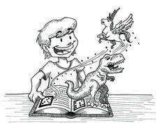 Fantasy book. Illustration for the book ENJOY (2016)