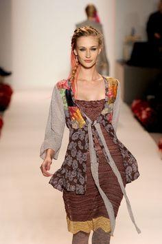 mixed fabric top tunic