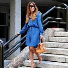 Estefanía C2T fresca y veraniega con el Camisero safari azul tan estilo aristocrático #LaCondesa