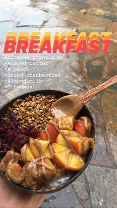 Quick and Easy Breakfast HealthyEating Diet Gourmet Breakfast Peach Easy HowTo Healthy Meal Prep, Healthy Breakfast Recipes, Healthy Snacks, Healthy Eating, Healthy Recipes, Gourmet Breakfast, Raw Vegan Breakfast, Quick And Easy Breakfast, Aesthetic Food