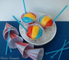 Beach ball snow cones and cotton candy ice cream cones