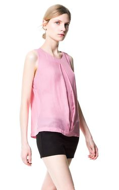 Image 1 of BLOUSE WITH PLEAT DETAIL from Zara