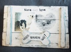Deco-bord - Hier waken wij | Karin's Deco Atelier