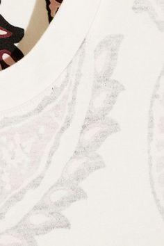 Acne Studios - Taline Paisley-print Cotton-jersey T-shirt - White