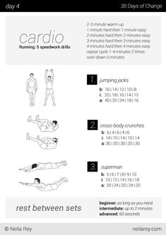 no equipment 30 day workout program  workout routines for