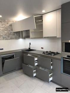 Simple Kitchen Design, Kitchen Room Design, Home Decor Kitchen, Interior Design Kitchen, Modern Kitchen Interiors, Modern Kitchen Cabinets, Kitchen Cupboard Designs, Kitchen Modular, Cuisines Design