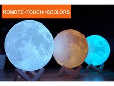 3D Print Moon Lamp Led Night Light Gift | day2daygadgets - Get 3D Print Moon Lamp Colorful Change Touch Usb Led Night Light Home Decor Creative Gift, galaxy moon lamp, Perfect decoration lights or gift for Valentines, Christmas, Thanksgiving,Birthday, Party, Wedding, Anniversary and other. Fast and Free Shipping + 15% Off. Elegant Home Decor, Elegant Homes, Cheap Home Decor, Moon Globe, Lunar Moon, 3d Printing Technology, Globe Lights, Led Night Light, Thanksgiving Birthday