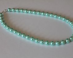 Tiffany Blue Pearl Necklace