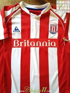 Official Le Coq Sportif Stoke City home football shirt from the season. Danny Collins, Stoke City Fc, Blackburn Rovers, Thing 1, Burnley, Fulham, Fa Cup, Sunderland, Tottenham Hotspur