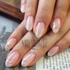From general topics to more of what you would expect to find here, nail-art-stickers. Classy Nails, Fancy Nails, Love Nails, Pretty Nails, Wedding Day Nails, Bridal Nails, Dandelion Nail Art, Clear Glitter Nails, Kawaii Nails