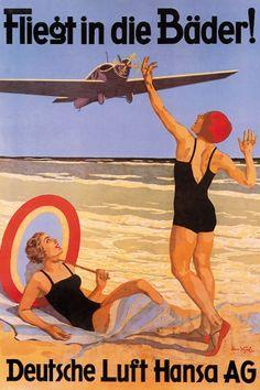 Lufthansa-Plakat von 1928