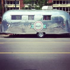 View of MoVi boutique in Kansas City. The 1962 Airstream is a mobile vintage clothing and accessories boutique.