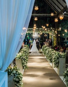 decoração de casamento com velas aéreas Madame Fiori