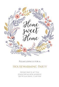 Wedding Wreath - Wedding Invitation Customize it and print for free. Free Wedding Invitation Templates, Floral Wedding Invitations, Wedding Invitation Cards, Wedding Cards, Wedding Programs, Invites, Wedding Menu, Boho Wedding, Wedding Flowers