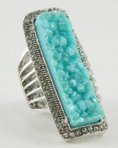 large turquoise rock ring.