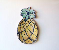 Ceramic Pineapple Spoon Rest Spoon Rests by acosmicmermaid on Etsy
