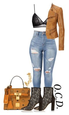 """""""IDGAF."""" by oreocaker ❤ liked on Polyvore featuring H&M, Gianvito Rossi, Andrew Marc and MCM"""