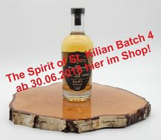 Kilian The Spirit of – Batch No. 4 Fassgelagerter Malzbrand l = €) Marzipan, St Kilian, Whisky, Bourbon, Spirit, Pear, Apple, Bonfires, News