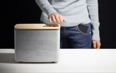 P.A.C.O open-source concrete speaker uses gestural controls