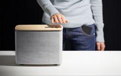 P.A.C.O open-source concrete speaker uses gestural controls - designboom | architecture