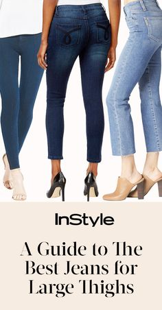 Shopping for jeans can be tough, so we asked the experts and put together a list of the best jeans for women with large thighs.Shopping…