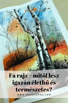 Csodásak a fák, de lerajzolásuknak titka van.Kattints és megtudod te is Van, Drawing, Cover, Books, Painting, Libros, Book, Painting Art, Sketches