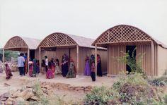 Maison en carton à Bhuj, Inde (2001) - Shigeru Ban