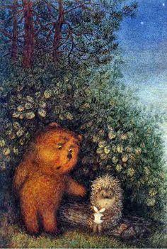 Bear and hedgehog
