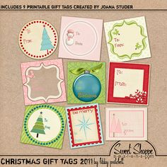 free Christmas tag printable