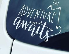 Adventure Awaits Car Decal Sticker Outdoor Vinyl Traveler Window Decals Decors