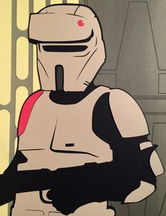 Scarif Stormtrooper Paper Cut-Out - DocGold13