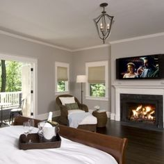 Can I get a fireplace in my bedroom? It would need to be flanked by bookshelves