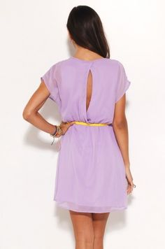 Lavender Open-back dress: great for a hot summer