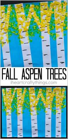 Take a drive through the mountains this fall and then make this beautiful fall aspen tree art. Fun fall craft for kids and fall art project for kids.