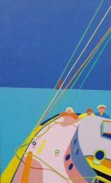"Saatchi Art Artist Siri Tenden; Painting, ""Blue sky Turquoise ocean"" #art"