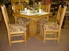 great table and chairs  Pueblo Southwest Trading Co  www.puebloswtradingco.com