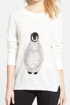 adorable penguin knit sweater  http://rstyle.me/n/vbgf6pdpe