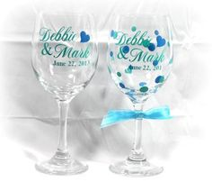 another wedding set Custom Wine Glasses, Personalized Wine Glasses, Wedding Sets, Tablescapes, Tableware, Dinnerware, Table Scapes, Tablewares, Dishes