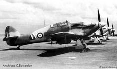 French Air Force Hawker Hurricanes at Meknes in 1945-46.