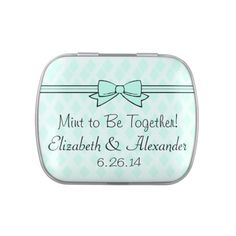 $5.13   Mint To Be Wedding Favor After Dinner Mints Jelly Belly Tins ONLY FOR WEDDING PARTY