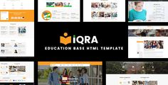 Buy Education Base HTML Template - iQRA by unlockdesign on ThemeForest. The Education Base HTML Template – iQRA is a prefect theme and worked for Academic, child, classes, collage, Corporat. Best Website Templates, Html Templates, Team Page, Dashboard Template, Free Education, Training Center, Kindergarten Learning, Study Abroad, Wordpress Theme