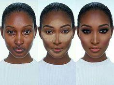 Ideas makeup tutorial for black women dark skin shades for 2019 Ideen Make-up Tutorial Makeup Tips, Beauty Makeup, Eye Makeup, Makeup Case, Makeup Brushes, Makeup Ideas, Black Girl Makeup, Girls Makeup, Contour Makeup