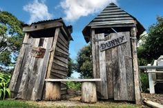 "Aussie outhouse...or as we would call it ""The outdoor dunny"""