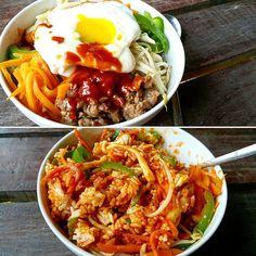 Quick & Easy Bibimbap in a Bowl ( Korean Mix Rice ) Japanese Cotton Cheesecake, Pandan Chiffon Cake, Milk Bun, Easy Japanese Recipes, Seafood Stew, Egg Tart, Healthy Menu, Fresh Milk, Mocca