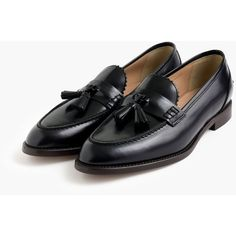 J.Crew Biella Tassel Loafers (5 210 ZAR) ❤ liked on Polyvore featuring shoes, loafers, real leather shoes, loafers & moccasins, loafer shoes, genuine leather shoes and synthetic leather shoes