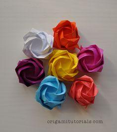 Origami Kawasaki Rose Tutorial | Origami Tutorials
