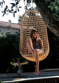 Jane at the pool, 1969