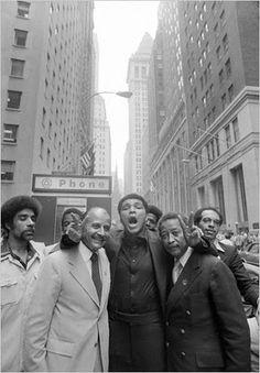Percy Sutton, Muhammad Ali and David N. Dinkins. Photo: John Sotomayor/The New York Times